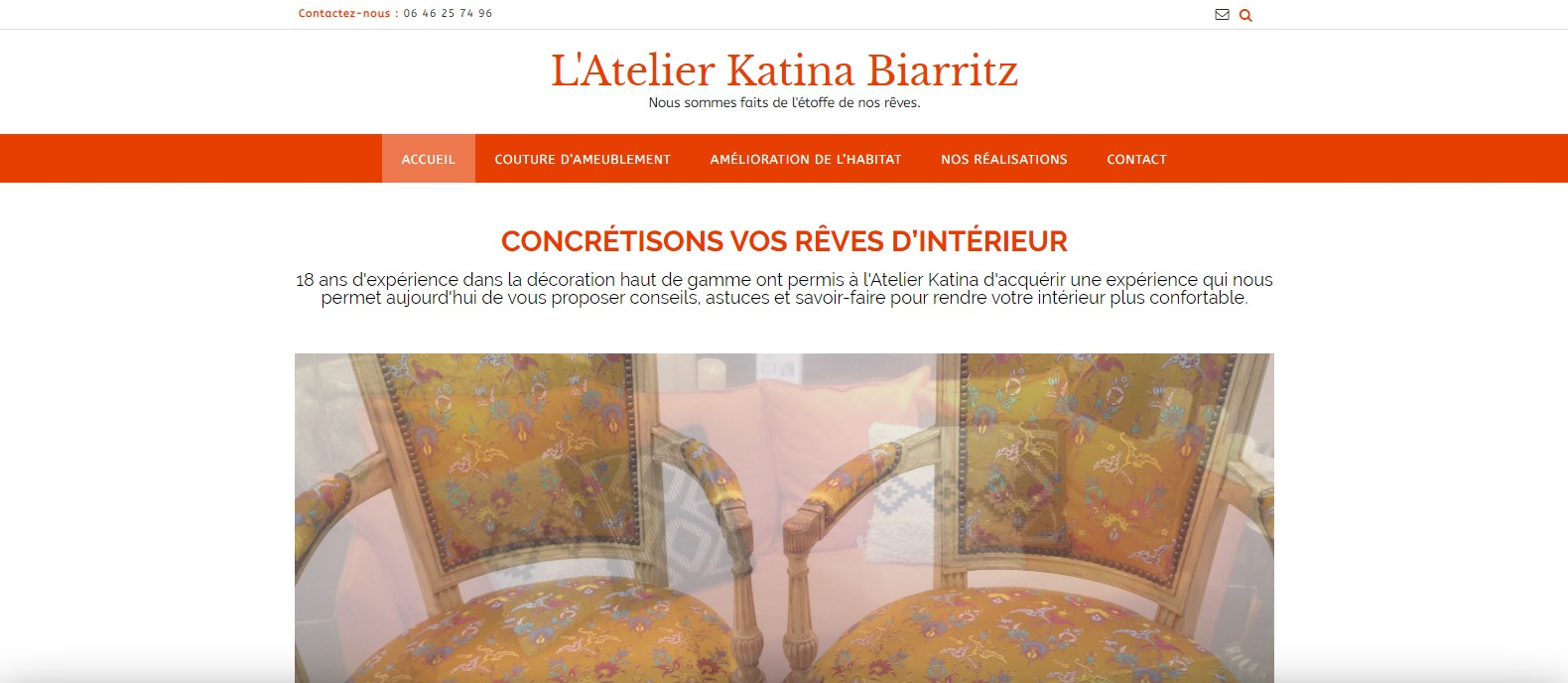 L'Atelier Katina - page d'accueil
