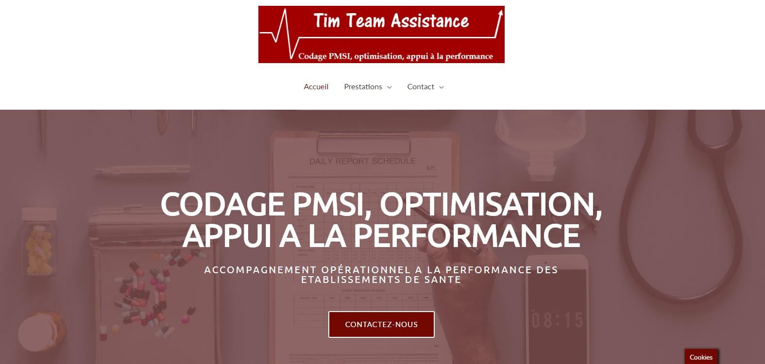 Tim Team Assistance - page d'accueil
